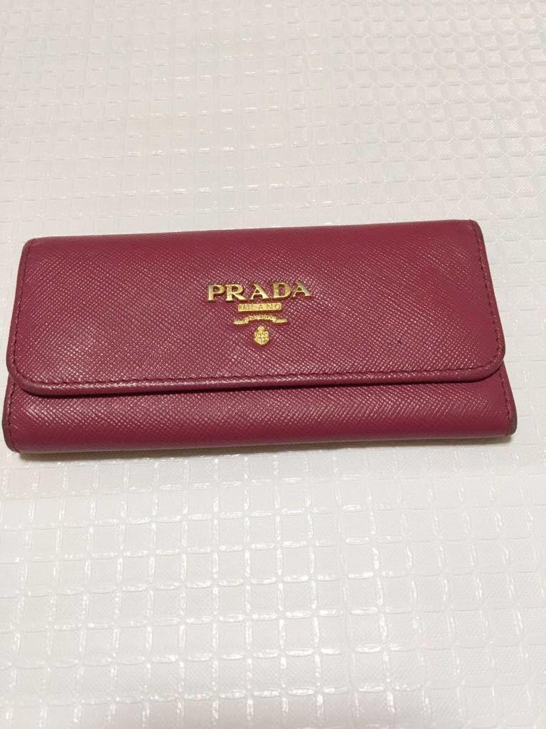 正規品! プラダ PRADA キーケース 6連 ピンク