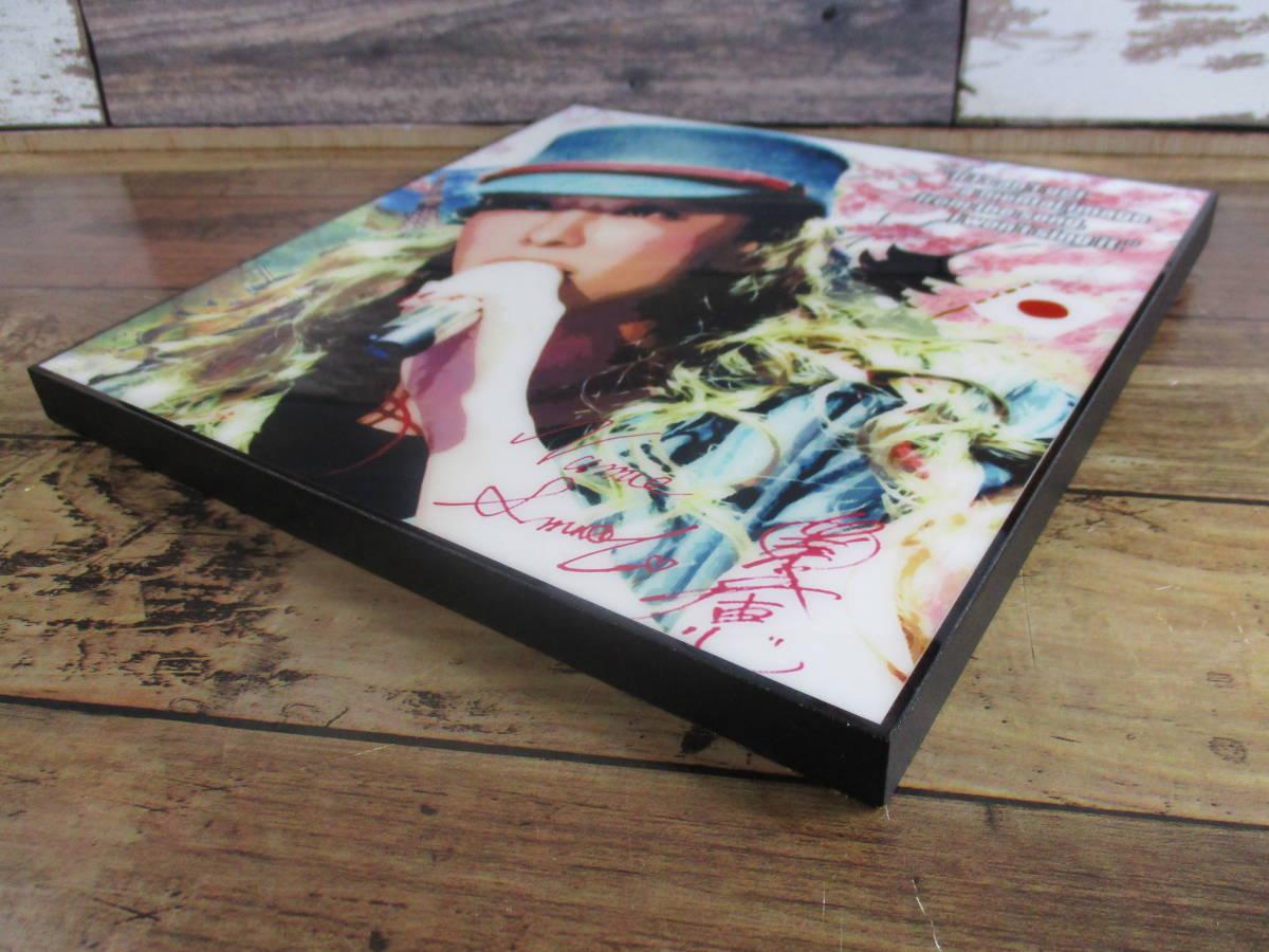 新品 安室奈美恵 あむろなみえ アムロ 壁掛けパネル ポップアートフレーム ポップアートパネル インテリアボード ファブリックパネル J-POP_画像2