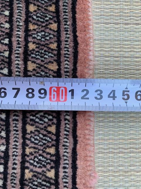 最高級逸品 三越店購入 高級絨毯 62.6cm×103cm【東京 直接引取歓迎】検シルクウールクムペルシャ絨毯手織カーペットラグマット玄関マット _画像7
