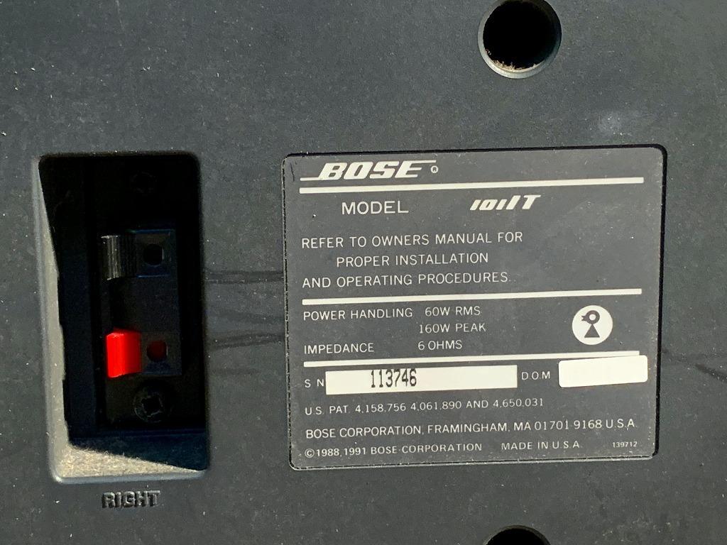 動作品 BOSE ボーズ 101IT スピーカー ペア オーディオ 音響 機器 シリアル113746/113747 (S2184)AKARI岡山_画像10