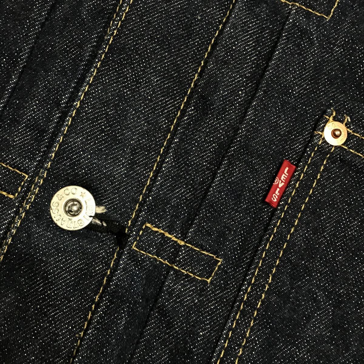 リーバイス 71506 サイズ40 濃紺 美品 LEVI'S ビッグE 日本製 復刻 デニムジャケット BIGE ファースト/ 507 XX Gジャン LVC_画像4