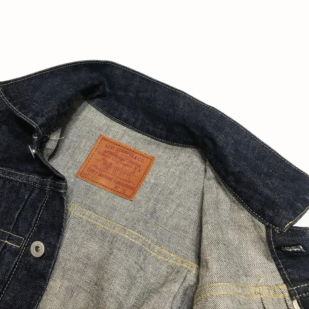 リーバイス 71506 サイズ40 濃紺 美品 LEVI'S ビッグE 日本製 復刻 デニムジャケット BIGE ファースト/ 507 XX Gジャン LVC_画像6