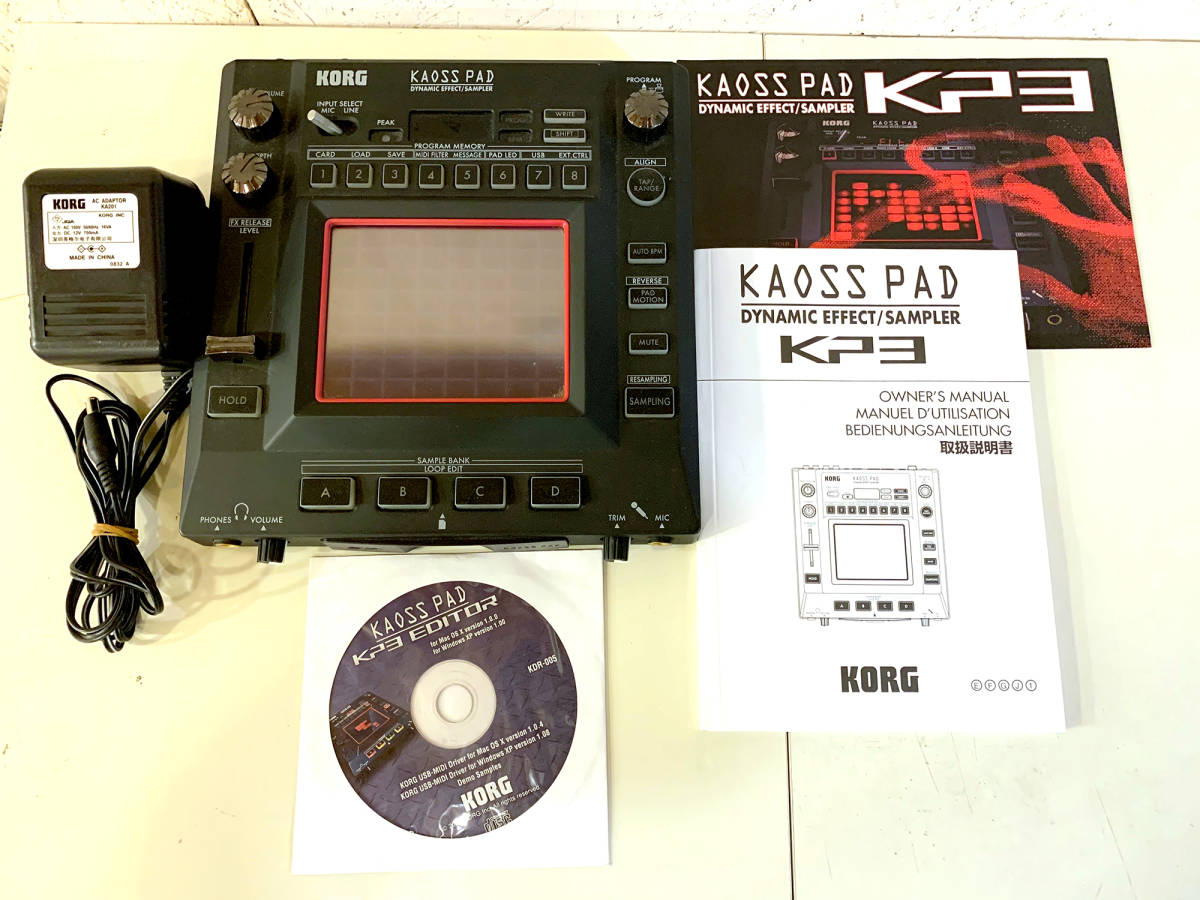 KORG Korg DJ effect sampler KAOSS PAD KP3 Kaoss Pad KP3 operation verification settled piece ....DJ Play .!