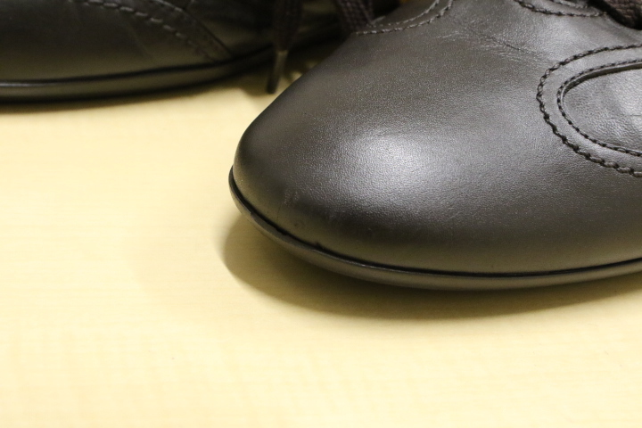 LV ルイ・ヴィトン レザーシューズ レザースニーカー LOUIS VUITTON ドライビングシューズ メンズ 本革 靴 革靴 茶 ブラウン 5 (24.5)_キズがございます