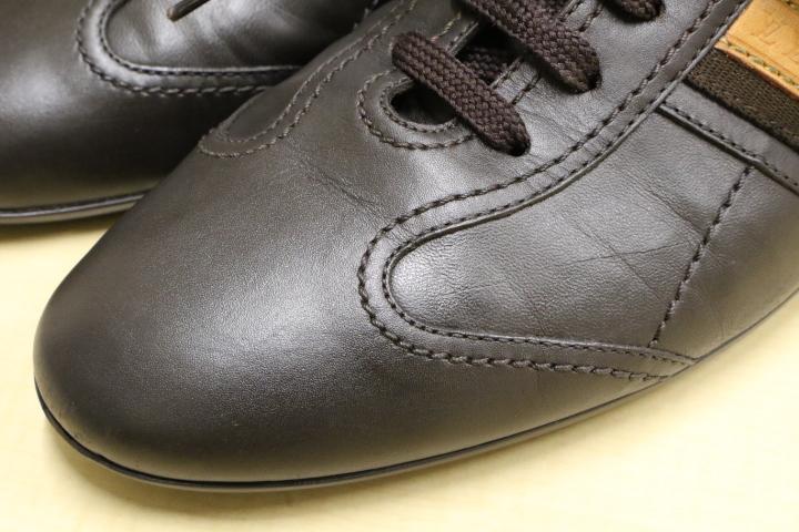 LV ルイ・ヴィトン レザーシューズ レザースニーカー LOUIS VUITTON ドライビングシューズ メンズ 本革 靴 革靴 茶 ブラウン 5 (24.5)_画像7