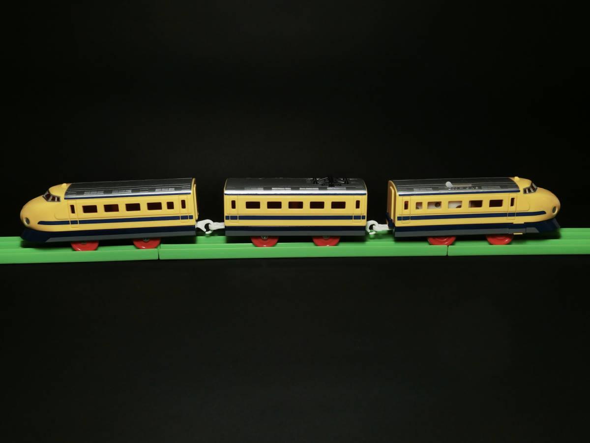 旧TOMYプラレール(タイ製) 『ドクターイエロー 0系新幹線』動作確認済/鉄道模型玩具/JR東海道山陽新幹線_画像3