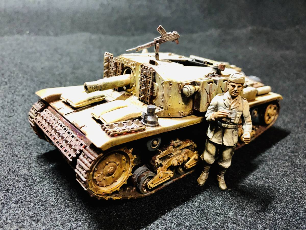 【完成品】セモベンテ突撃砲 タミヤ イタリア突撃砲セモベンテM40
