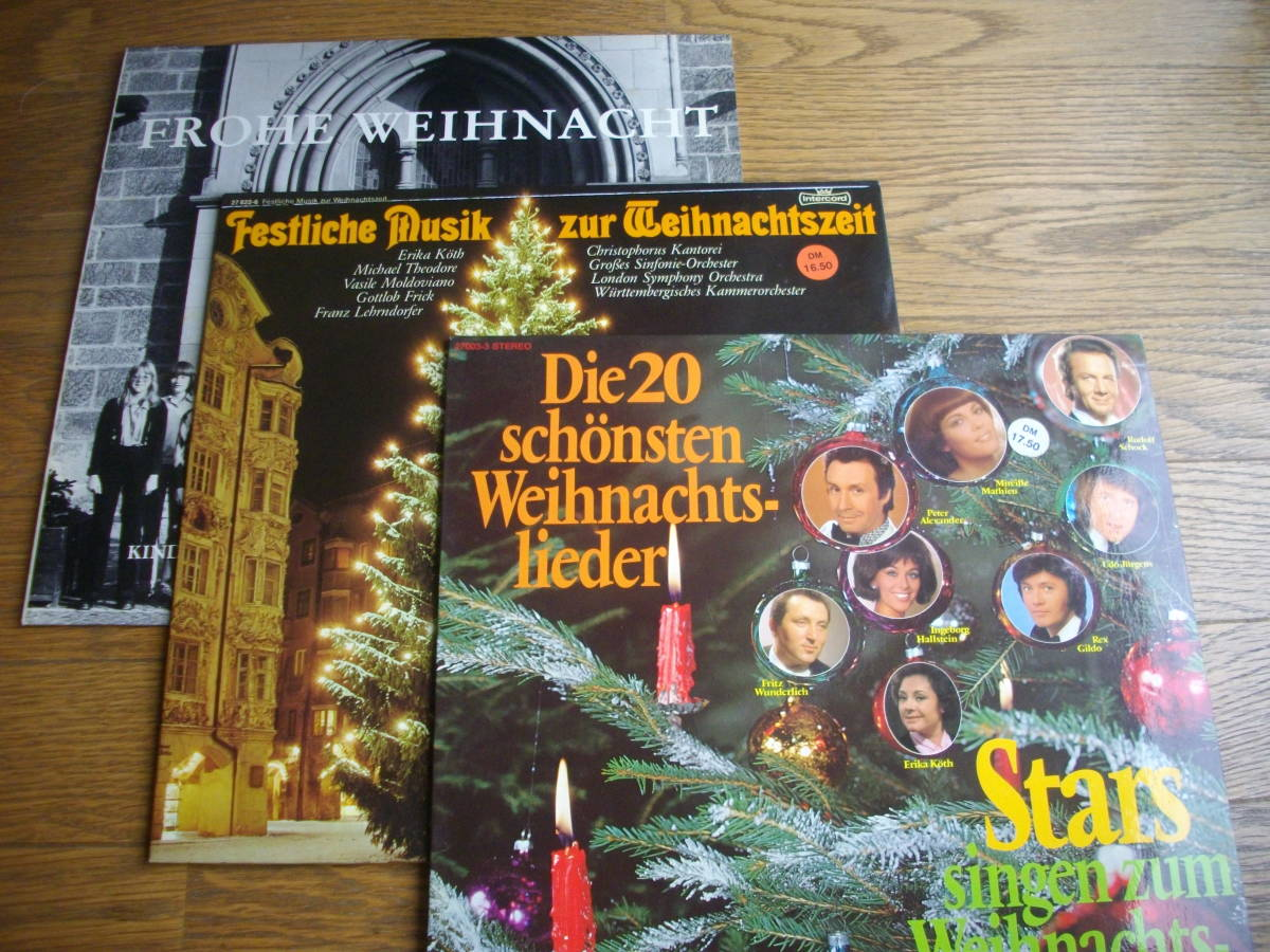 音良好独盤3枚少し早いですがクリスマスにはこのレコードで①少年コーラス②クラシック歌唱③ややポップス歌唱で定番のクリスマス教会音楽_画像1