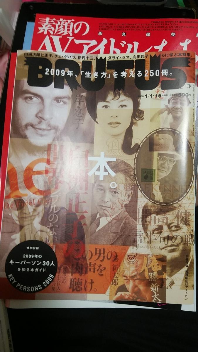 BRUTUS 2009/1/1.15 中古 岸惠子 白須正子 北大路魯山人 向田邦子
