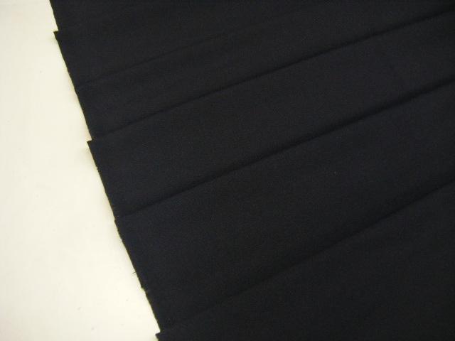 X2 生地・ポプリン・バーズアイ・ポリウレタン・ウール・無地・ストレッチ・ネイビー系・125cm巾・1.3m価格_画像1