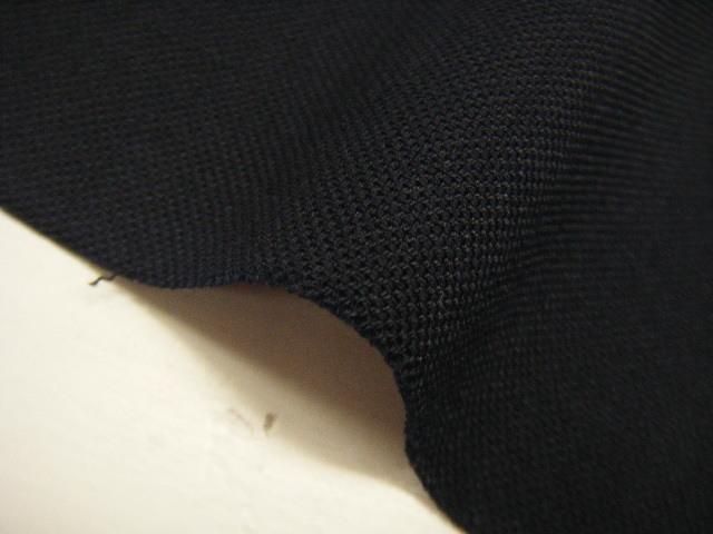 X2 生地・ポプリン・バーズアイ・ポリウレタン・ウール・無地・ストレッチ・ネイビー系・125cm巾・1.3m価格_画像3