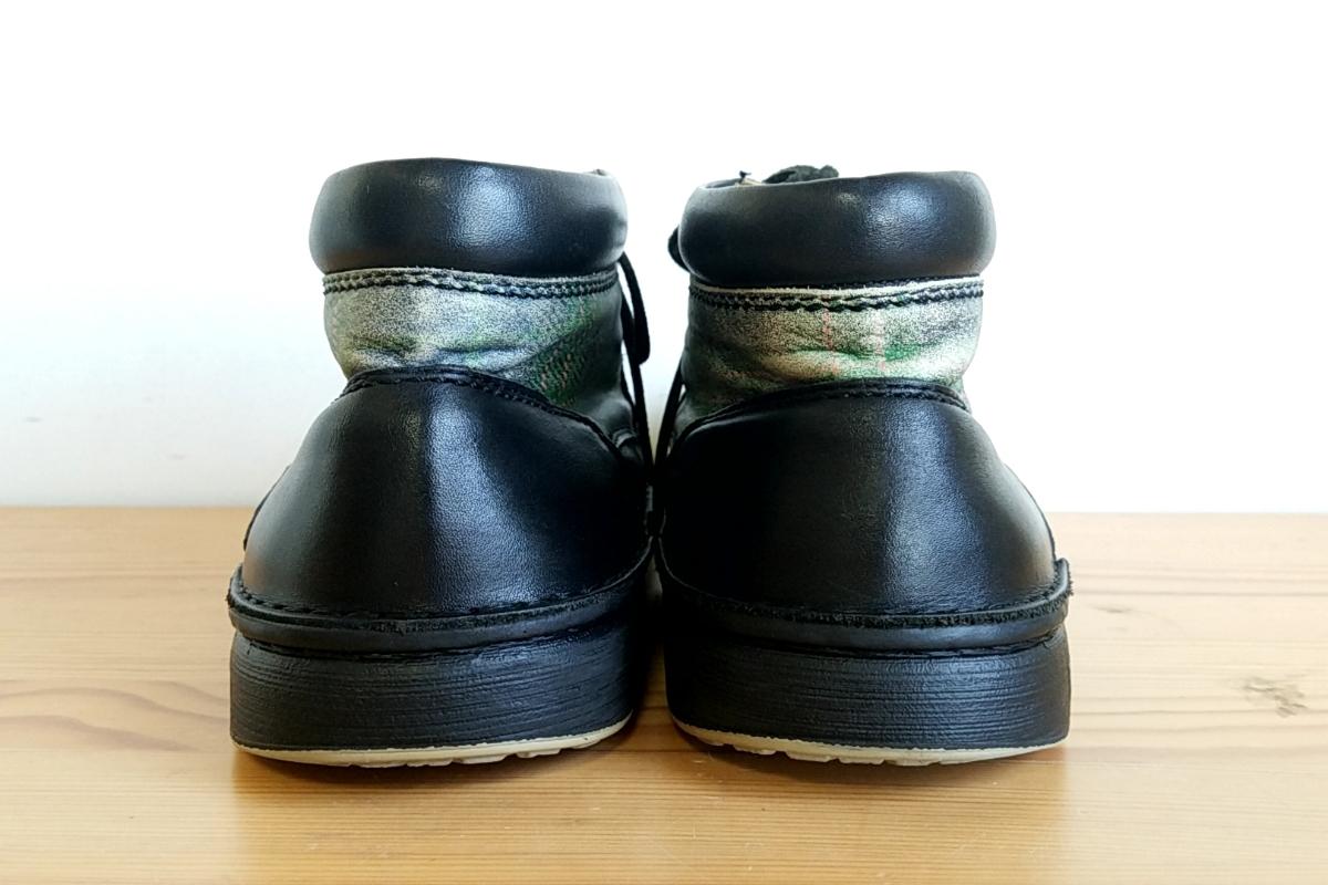 421◆ビルケンシュトック BIRKENSTOCK フットプリンツ footprints パサデナ ハイ size 41 26.5cm 黒×緑 チェック柄 中古 USED_画像5