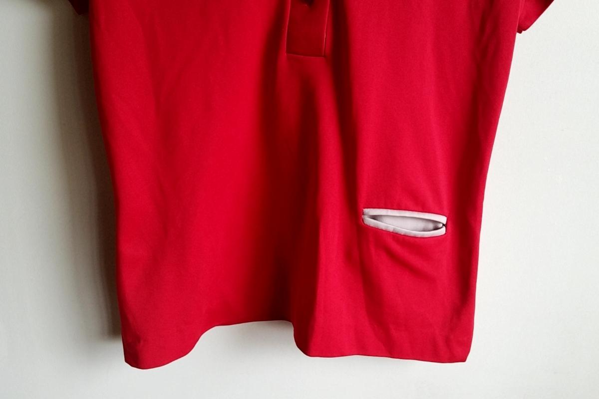 T13★【送料無料】USA製 キングルイ King Louie プルオーバー 半袖シャツ 34 赤 レッド vintage ヴィンテージ 古着 USED 中古 0001_画像3