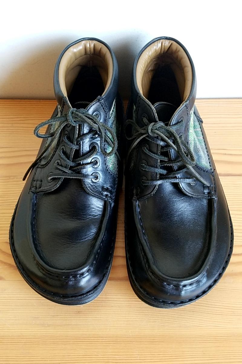 421◆ビルケンシュトック BIRKENSTOCK フットプリンツ footprints パサデナ ハイ size 41 26.5cm 黒×緑 チェック柄 中古 USED_画像4