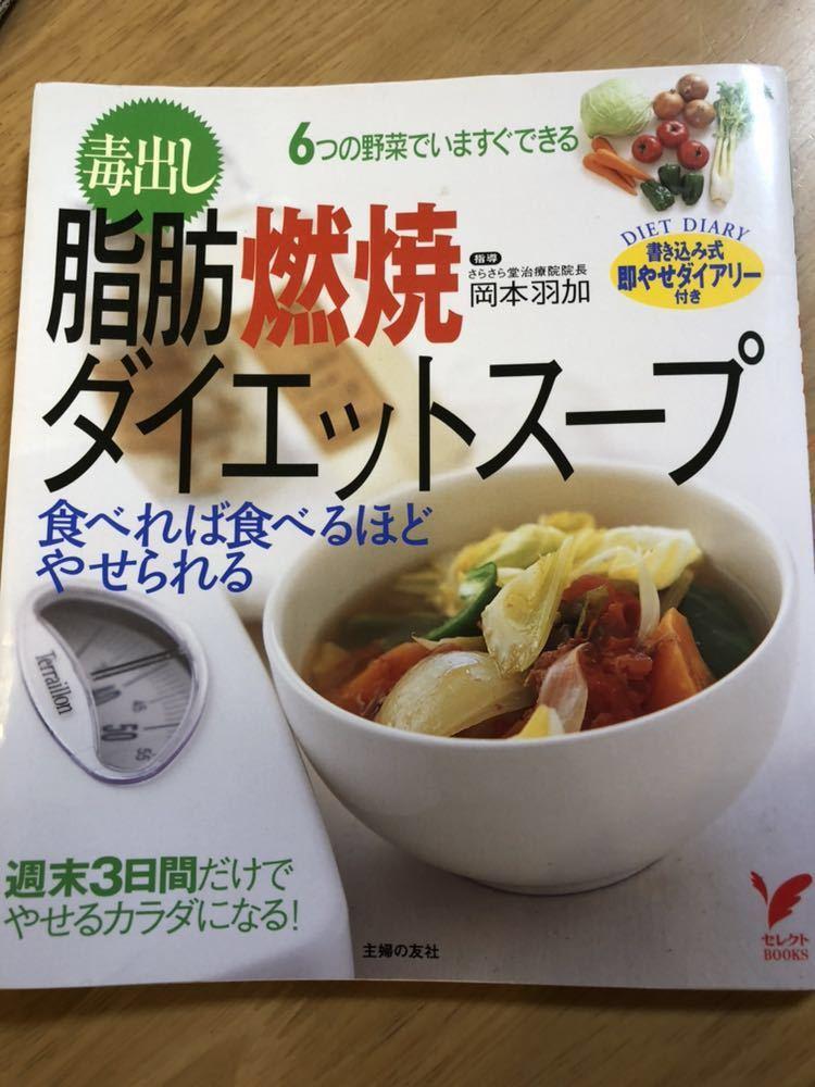 岡本羽加 毒出し 脂肪燃焼 ダイエットスープ レシピ本 雑誌_画像1