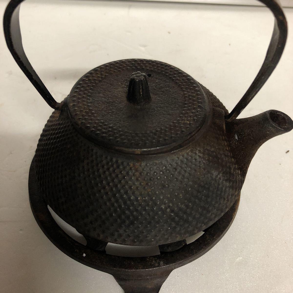 南部 鉄器 台付き 茶道具 _画像8