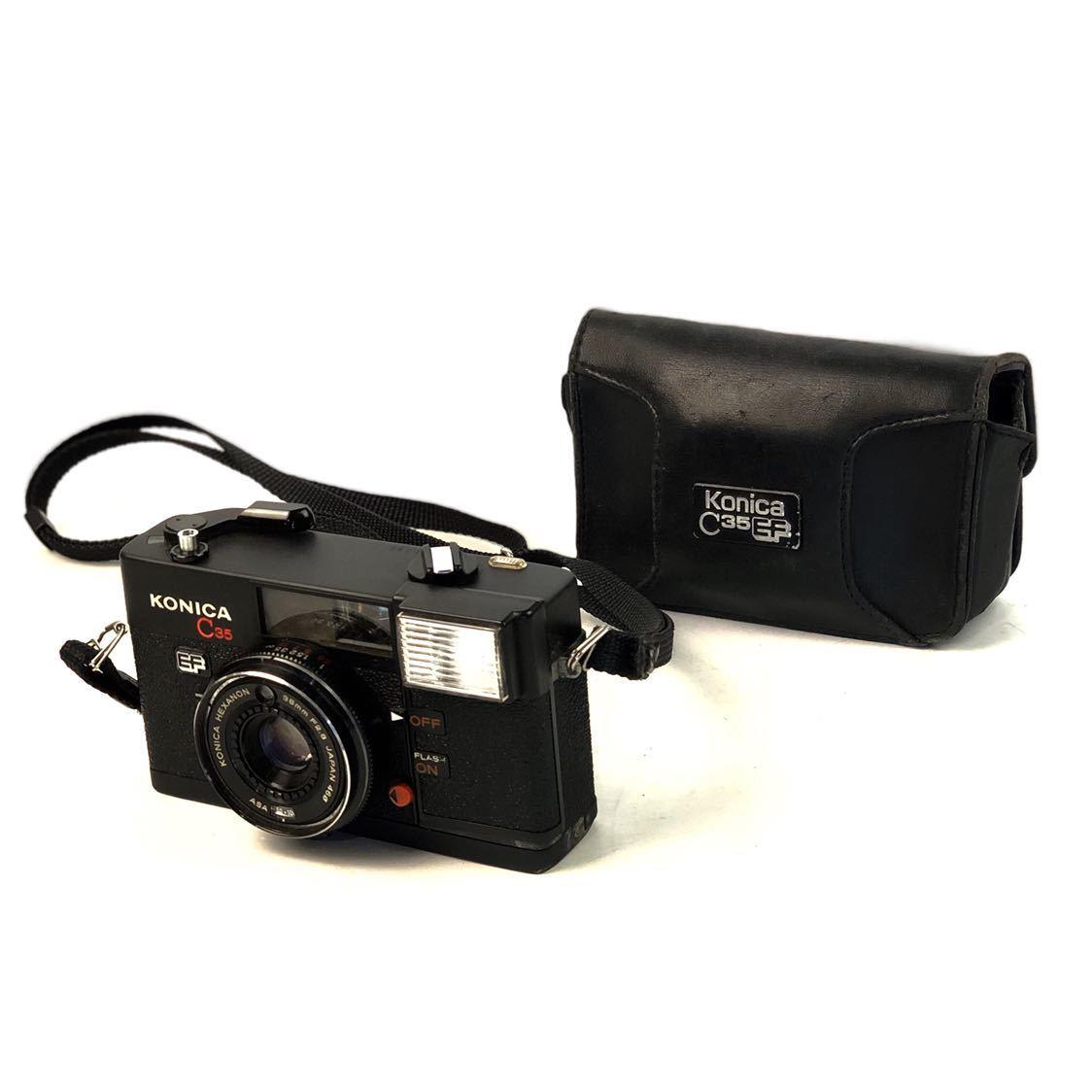 未確認ジャンク扱い■KONICA/コニカ C35 EF HEXANON 38mm F2.8 φ46 フィルムカメラ ボディ レンズ付属■兵庫県姫路市発20 A2_画像1
