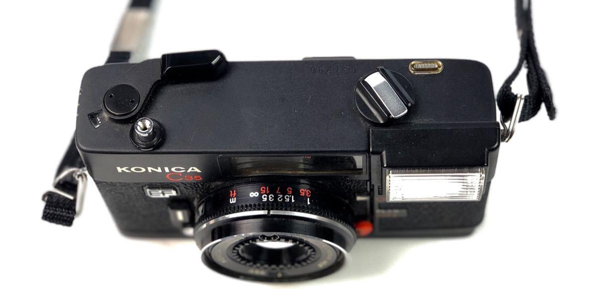 未確認ジャンク扱い■KONICA/コニカ C35 EF HEXANON 38mm F2.8 φ46 フィルムカメラ ボディ レンズ付属■兵庫県姫路市発20 A2_画像4