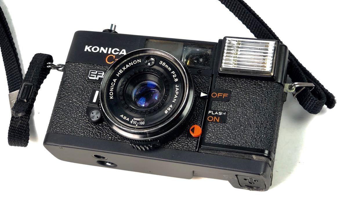 未確認ジャンク扱い■KONICA/コニカ C35 EF HEXANON 38mm F2.8 φ46 フィルムカメラ ボディ レンズ付属■兵庫県姫路市発20 A2_画像2