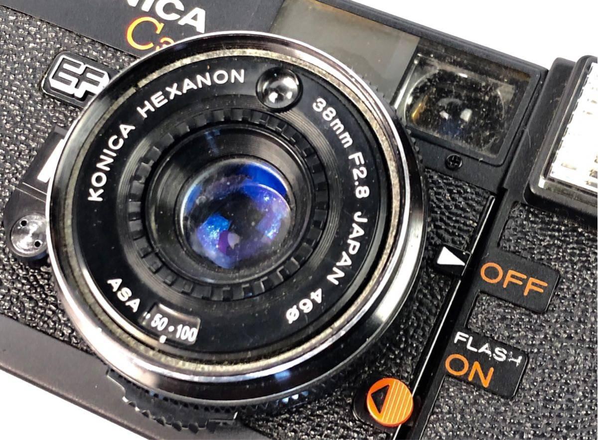 未確認ジャンク扱い■KONICA/コニカ C35 EF HEXANON 38mm F2.8 φ46 フィルムカメラ ボディ レンズ付属■兵庫県姫路市発20 A2_画像3