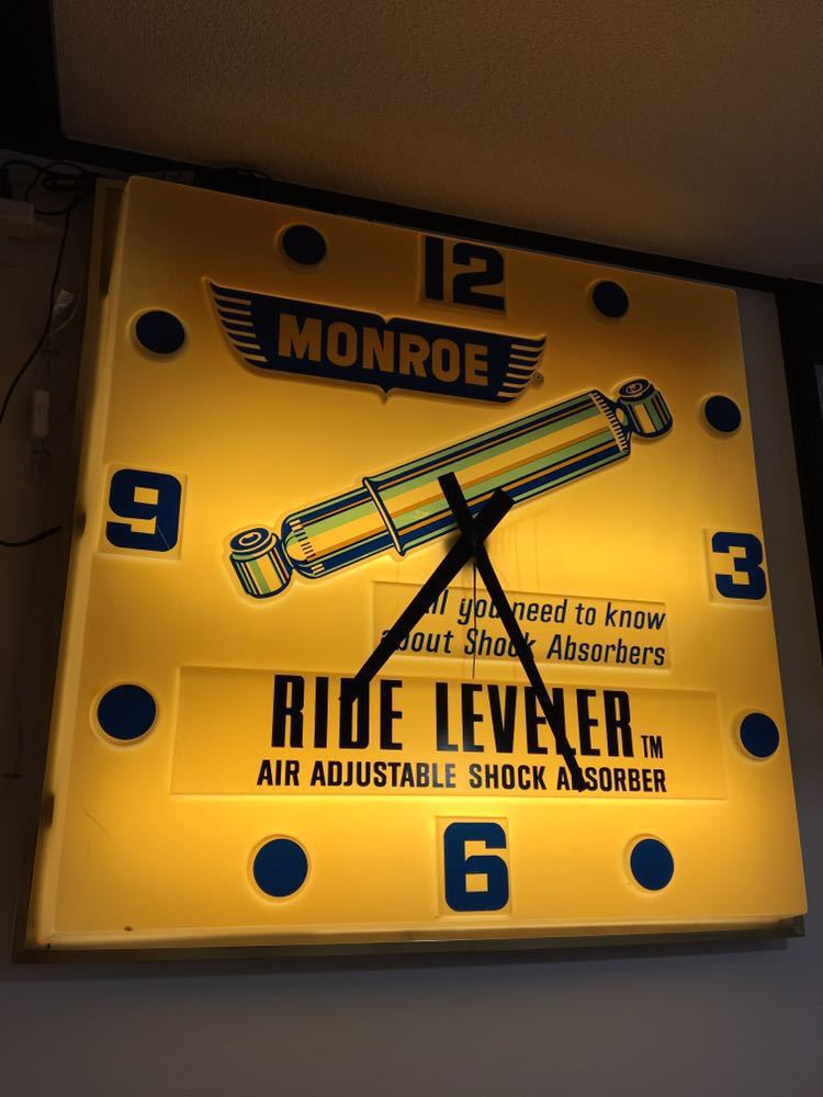 ヴィンテージ 巨大 クロック ネオンサイン ネオンライト MONROE 看板 アメリカン雑貨 店舗什器 照明