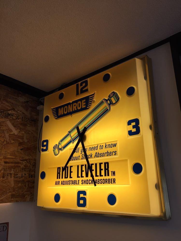 ヴィンテージ 巨大 クロック ネオンサイン ネオンライト MONROE 看板 アメリカン雑貨 店舗什器 照明_画像4