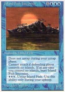 010060-002 4E/4ED 島魚ジャスコニアス/Island Fish Jasconius 英1枚_画像1