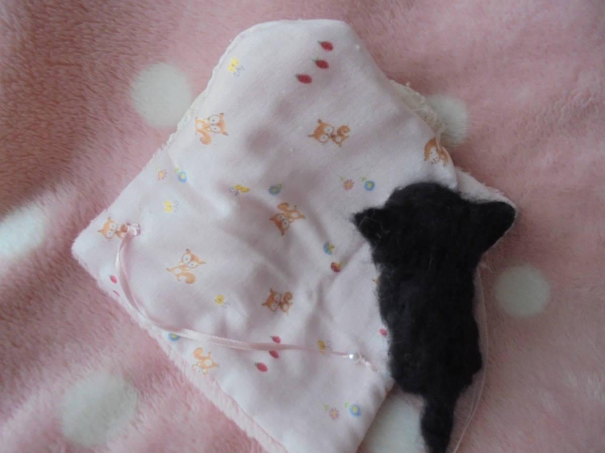 ☆ハンドメイド羊毛フェルト チワワブラックタン赤ちゃん21 (おくるみ♪)_画像4