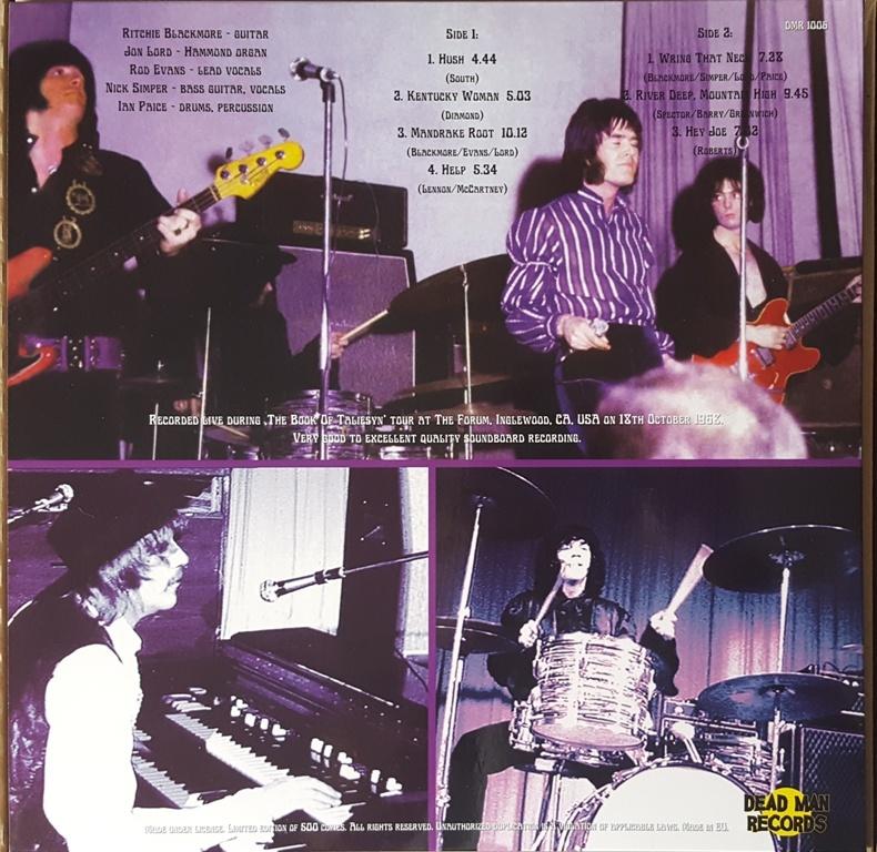 Deep Purple - Live At The L.A. Forum 1968 500枚限定アナログ・レコード