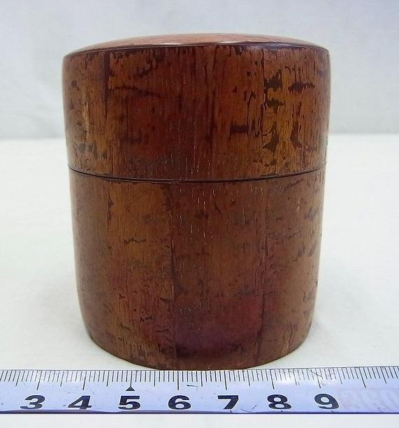 小柳金太郎造 樺細工茶筒 共箱 名人作の貴重な逸品です。送料無料/手工芸品/茶器/茶道具_画像3