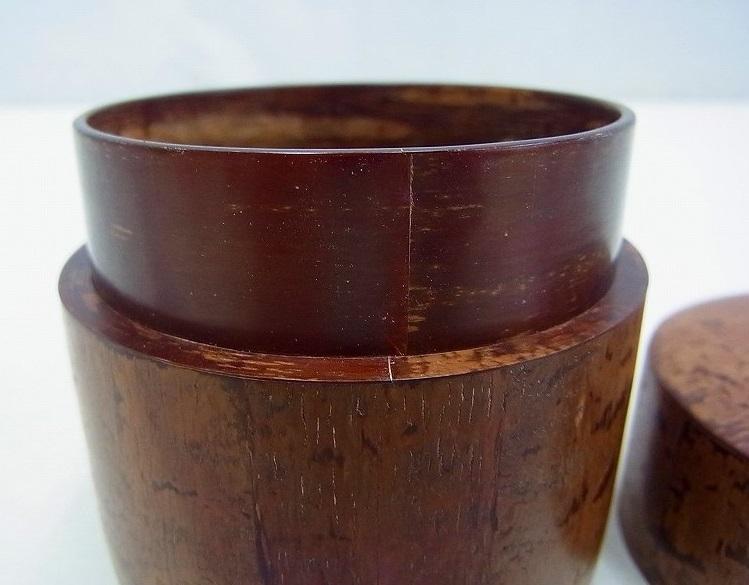 小柳金太郎造 樺細工茶筒 共箱 名人作の貴重な逸品です。送料無料/手工芸品/茶器/茶道具_画像8