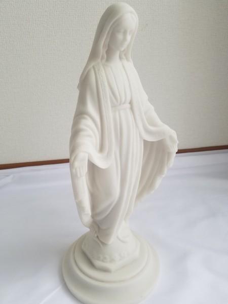 実質1円~【希少】イタリア製マリア像(乳白色・ホワイト)32400円価値■端正で柔和な表情と佇まいに癒されてください