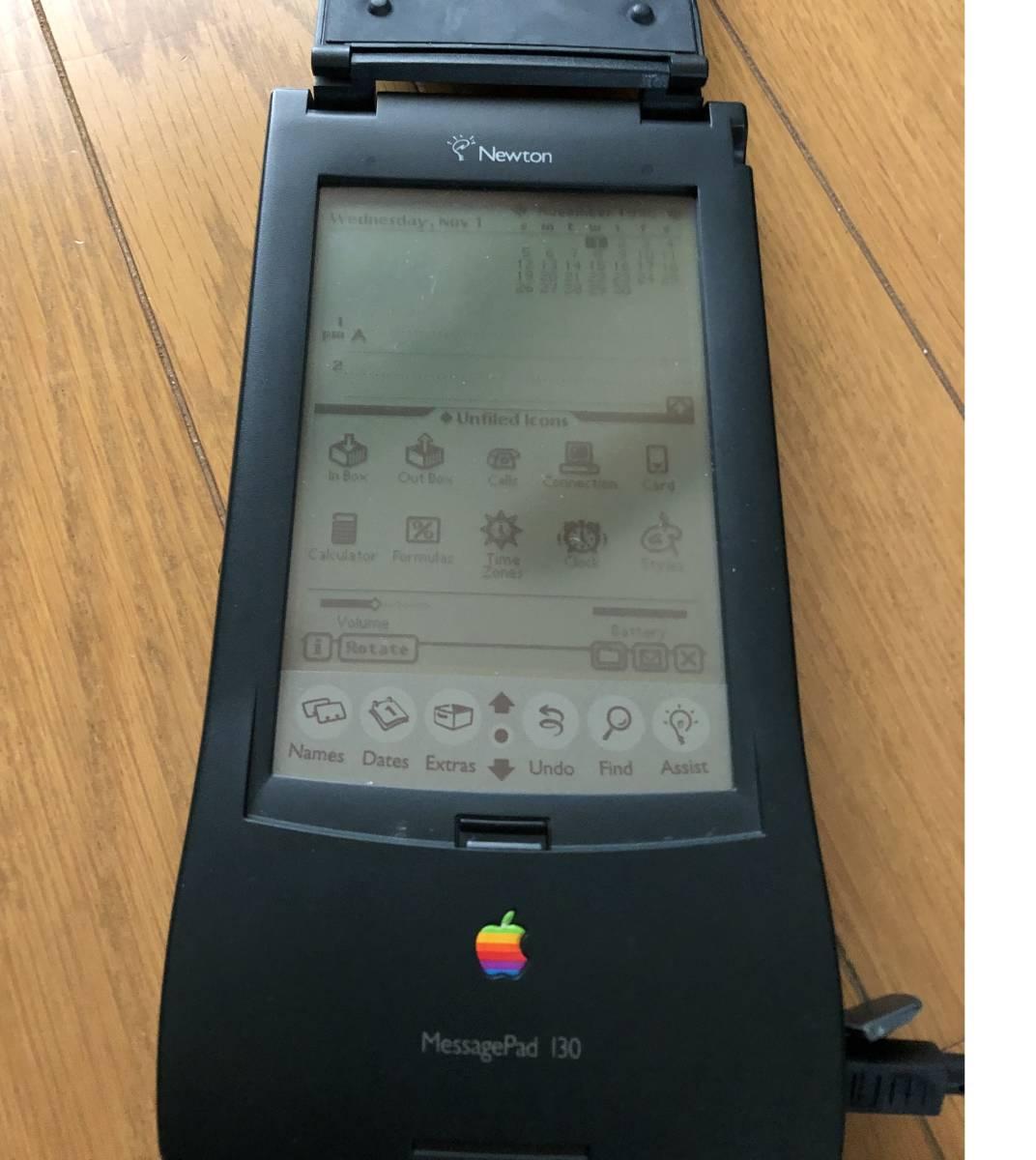 Apple Newton MessagePad 130 ACアダブタ 動作品 4MBメモリーカード付き_画像6