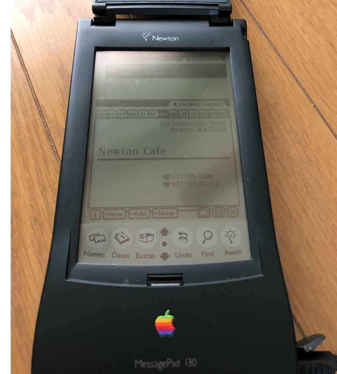 Apple Newton MessagePad 130 ACアダブタ 動作品 4MBメモリーカード付き_画像8