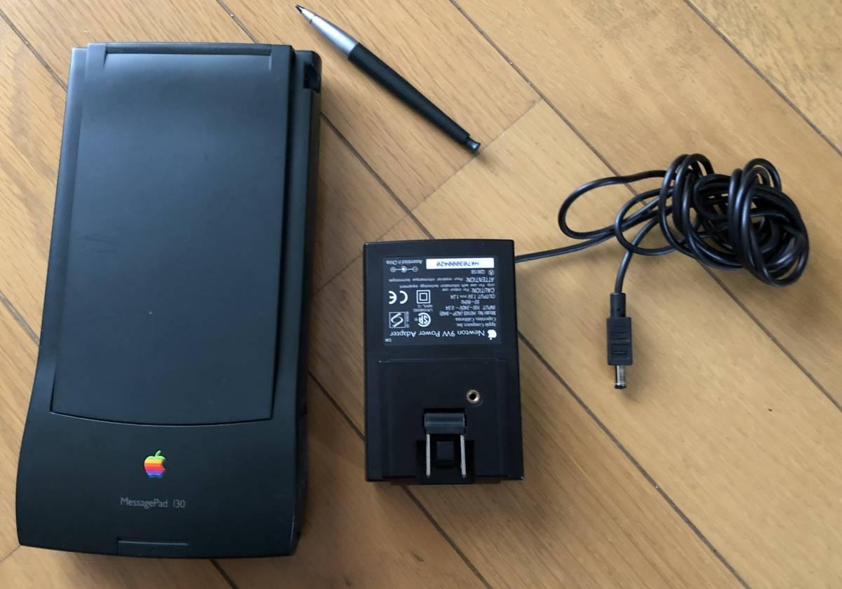 Apple Newton MessagePad 130 ACアダブタ 動作品 4MBメモリーカード付き