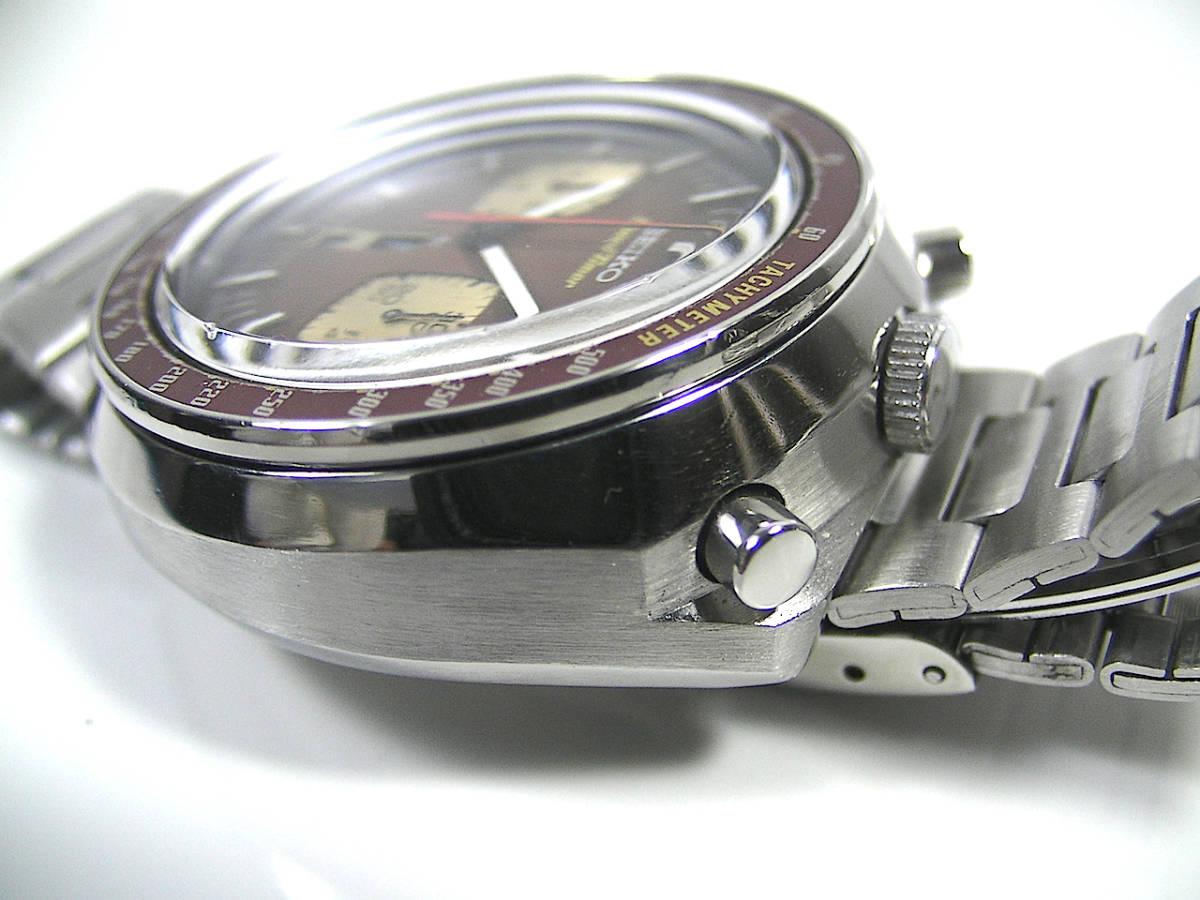 美品! 整備済 SEIKO 6138-0040 スピードタイマー 茶馬 クロノグラフ オートマチック ツノ BULLHEAD ビンテージ アンティーク セイコー_画像6