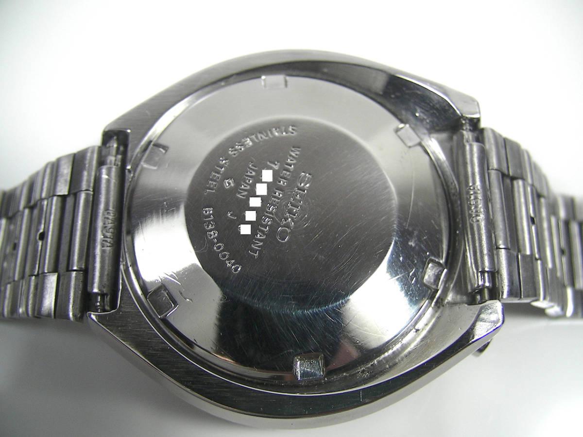 美品! 整備済 SEIKO 6138-0040 スピードタイマー 茶馬 クロノグラフ オートマチック ツノ BULLHEAD ビンテージ アンティーク セイコー_画像9