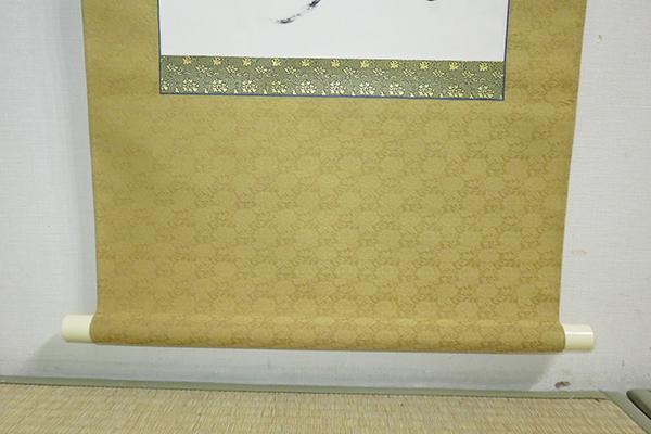 ◆ 茶道具 茶掛 掛軸 【 二行書 】 教専筆 紙箱 【真筆】_画像6