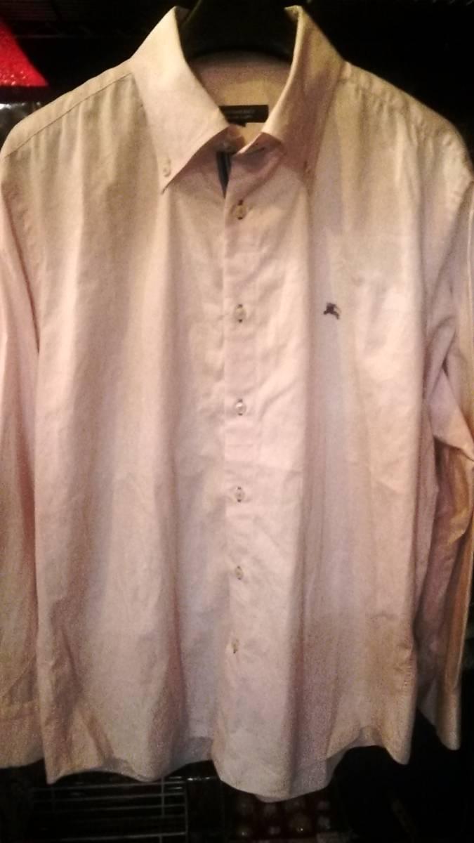 バーバリーBURBERRY BLACK LABEL ボタンダウンシャツ ワイシャツ 紳士服 ゴルフウエア ブランド