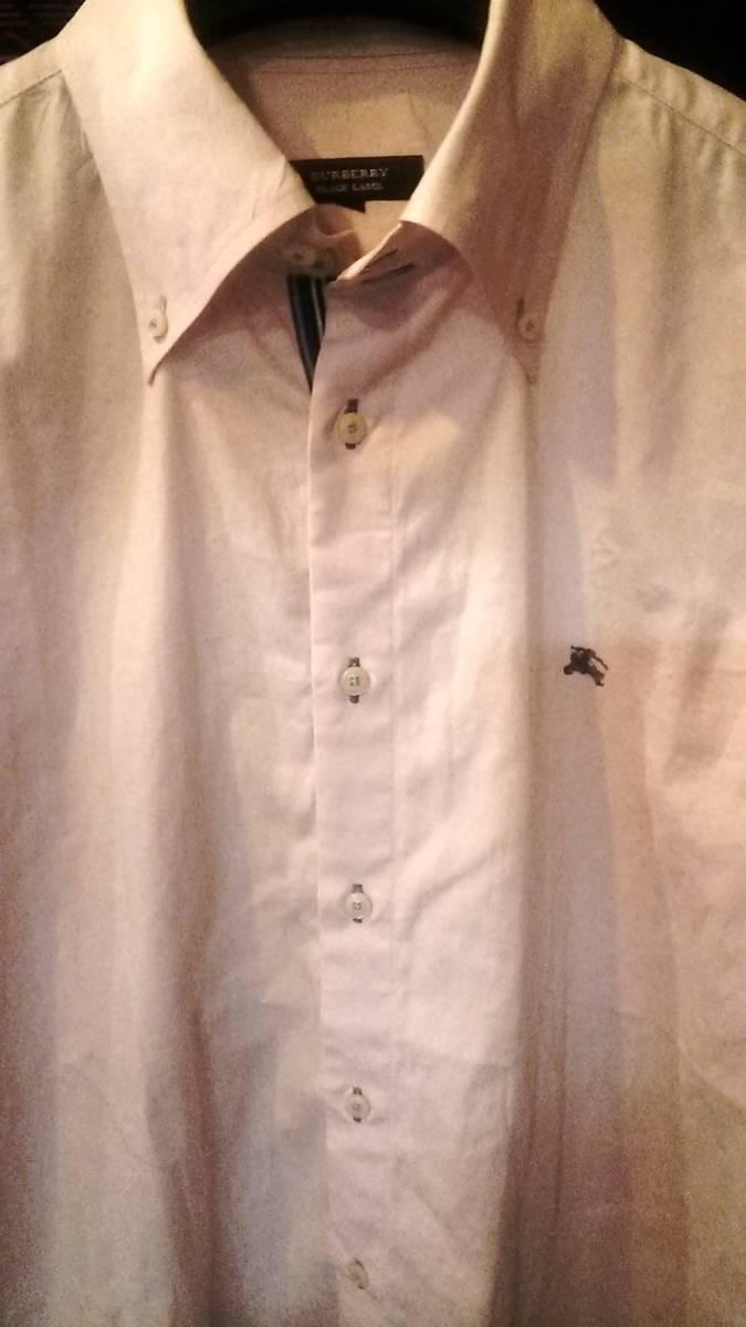バーバリーBURBERRY BLACK LABEL ボタンダウンシャツ ワイシャツ 紳士服 ゴルフウエア ブランド _画像2