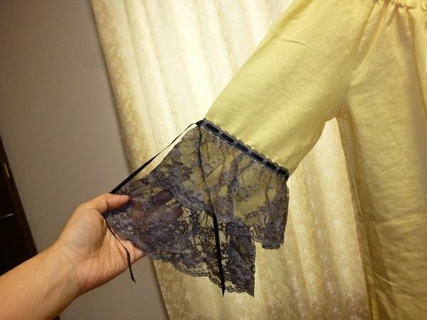 deicy デイシー 袖レース ブラウス カットソー 黄色 定価16800円