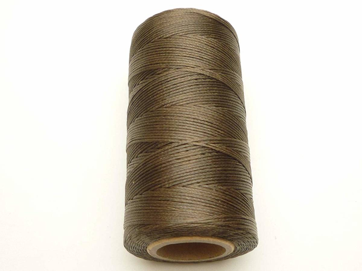 蝋引き糸 ワックスコード 茶  ブラウン 太さ1mm 長さ260m ロウ引き 手芸 レザークラフト用紐 マクラメ編み  日本全国送料無料