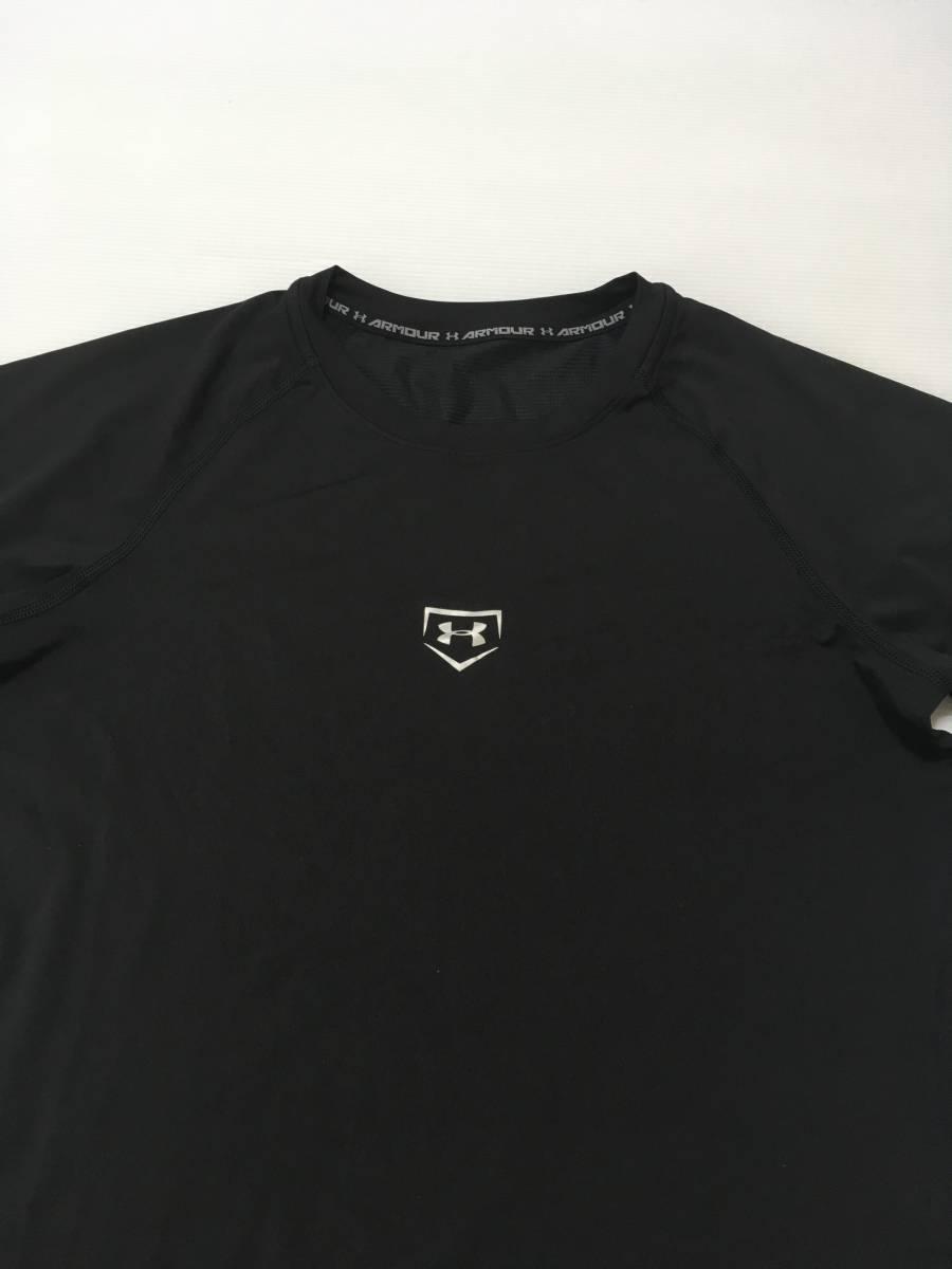 アンダーアーマー ベースボール アンダーウェア 野球 ドライ ストレッチ   Tシャツ ハイクオリティ UNDER ARMOUR◯1332 石_画像3