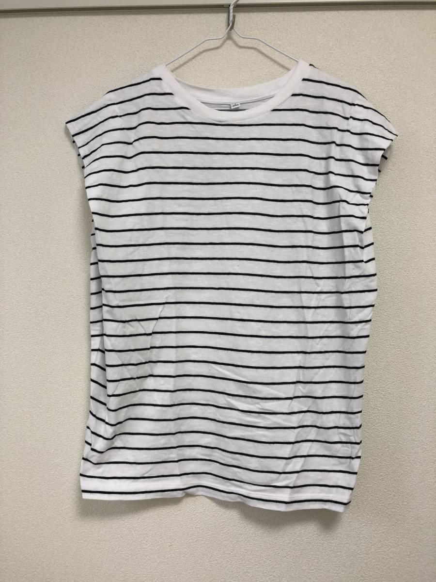 UNIQLO ユニクロ トップス ボーダー Sサイズ ホワイト ブラック 婦人服 レディース Tシャツ カットソー