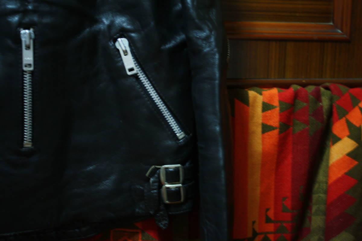 状態良 極上品 70s ビンテージ 小の字 UK ロンジャン レザー ライダース ジャケット ■ ■ ■ ルイスレザー 666 セディショナリーズ_画像3