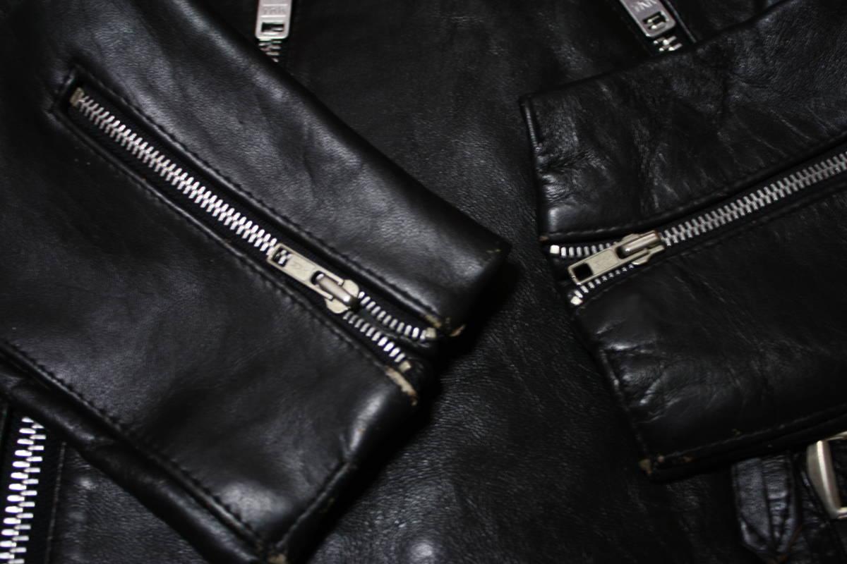状態良 極上品 70s ビンテージ 小の字 UK ロンジャン レザー ライダース ジャケット ■ ■ ■ ルイスレザー 666 セディショナリーズ_画像7