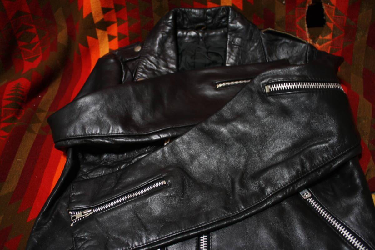 状態良 極上品 70s ビンテージ 小の字 UK ロンジャン レザー ライダース ジャケット ■ ■ ■ ルイスレザー 666 セディショナリーズ_画像8