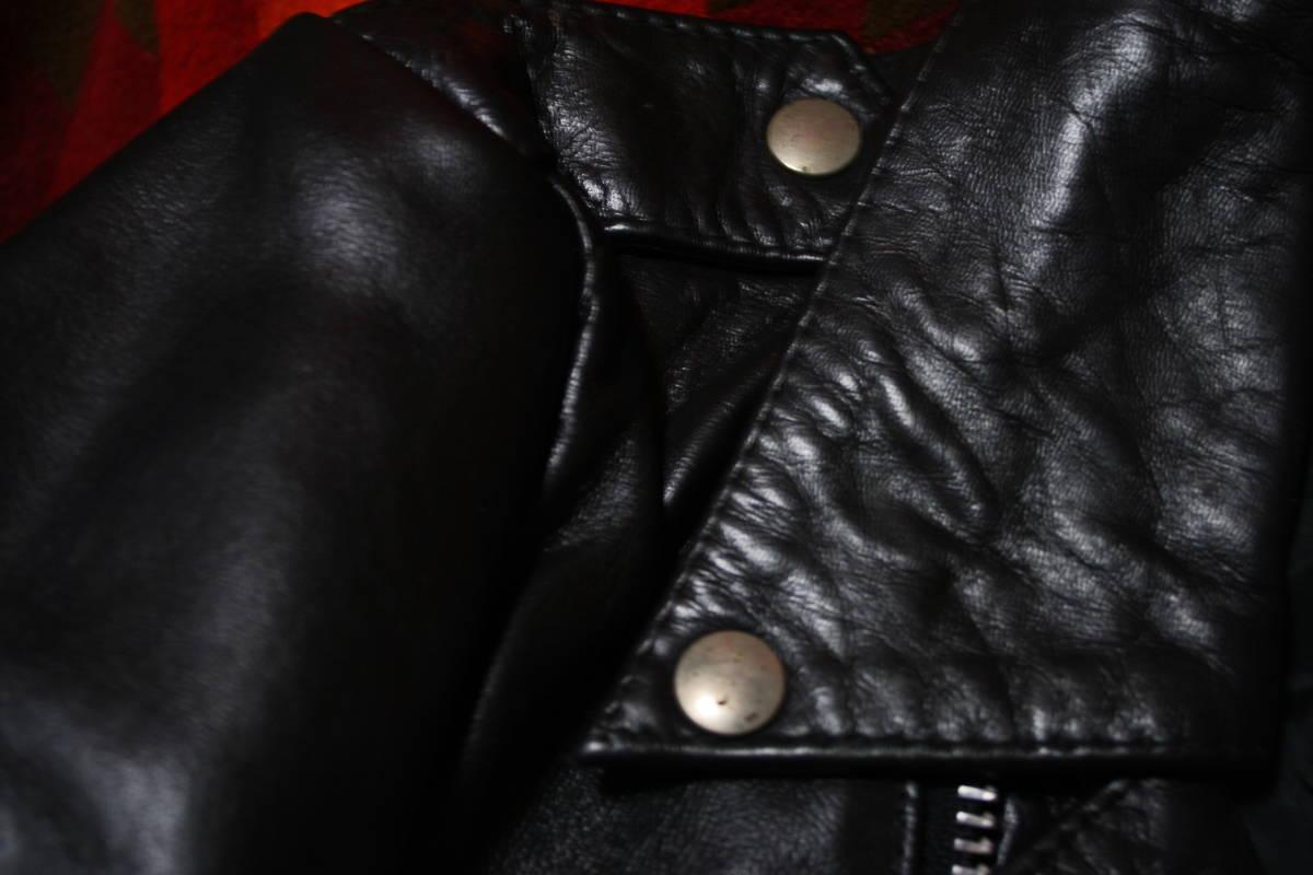 状態良 極上品 70s ビンテージ 小の字 UK ロンジャン レザー ライダース ジャケット ■ ■ ■ ルイスレザー 666 セディショナリーズ_画像9