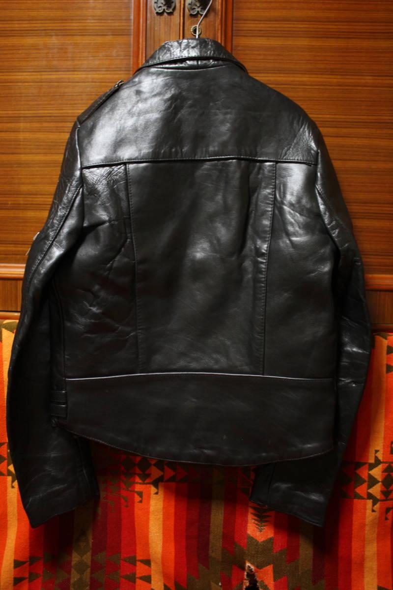 状態良 極上品 70s ビンテージ 小の字 UK ロンジャン レザー ライダース ジャケット ■ ■ ■ ルイスレザー 666 セディショナリーズ_画像4