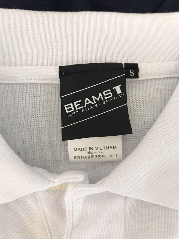 美品 メンズ BEAMS T くま ポロシャツ ビームス_画像4